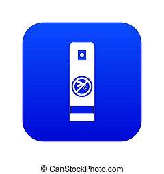 blauwe , verpulveren, pictogram, mug, digitale