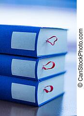 blauwe , vlakte, boekjes