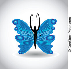 blauwe , vlinder