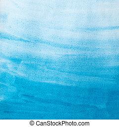 blauwe , watercolor, papier, textuur, wassen