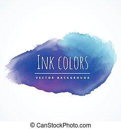 blauwe , watercolor verf