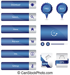 blauwe , web, communie, bijzondere , verzameling