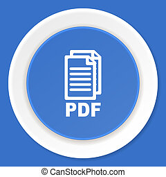blauwe,  web, plat, moderne, Ontwerp, pictogram,  pdf