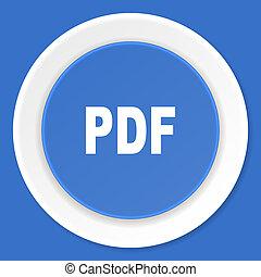 blauwe,  web, plat, moderne, Ontwerp,  pdf, pictogram