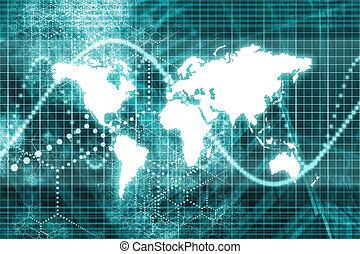 blauwe , wereldwijd, zakenmededelingen