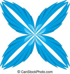 blauwe , wings.