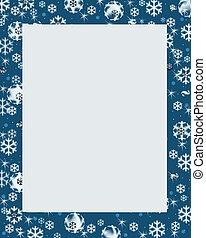 blauwe , winter, grens