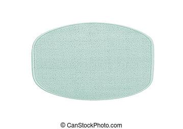 blauwe , witte , bad, vrijstaand, tapijt