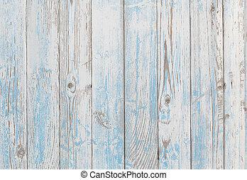 blauwe , witte , hout, achtergrond, textuur