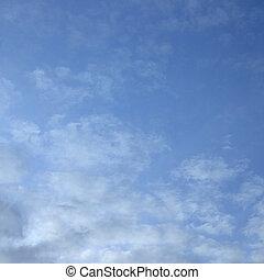 blauwe , wolken, hemel