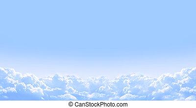 blauwe , wolken, natuur, hemel, achtergrond, witte