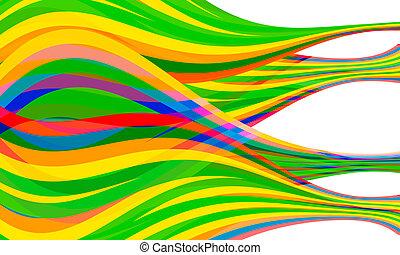 blauwe , yellow;, red;, abstract, lijnen, vector, gecombineerd, viooltje, groene