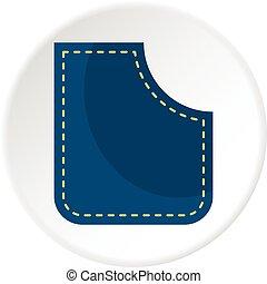 blauwe , zak, cirkel, pictogram