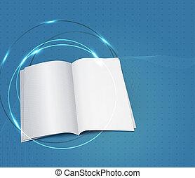 blauwe , zakelijk, achtergrond, met, een, copybook