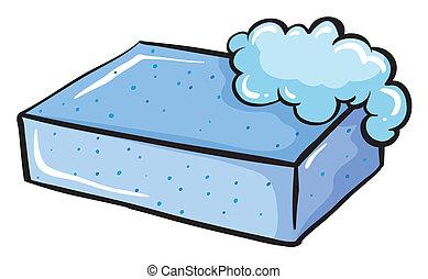 blauwe , zeep