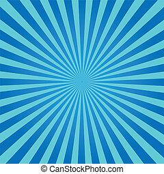 blauwe , zonnestraal