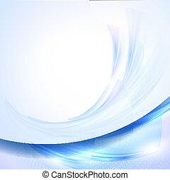 blauwe , zwaaiende , abstract, achtergrond