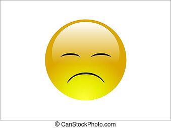 blauwgroen, emoticons, 2, -, verdrietige