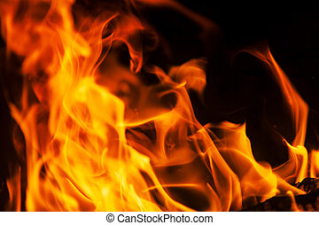 Blaze fire flame texture background - Photo of flame...