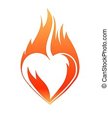 Blazing heart, abstract Valentine design for your cards, wishes and ect.