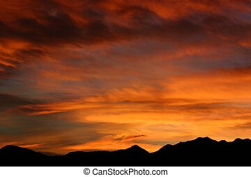 Blazing Sunset - Blazing sunset over Southern Colorado...