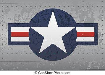blazoen, militair, nationale, vliegtuig