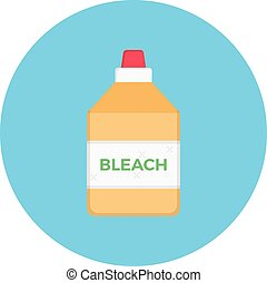 bleach vector flat colour icon