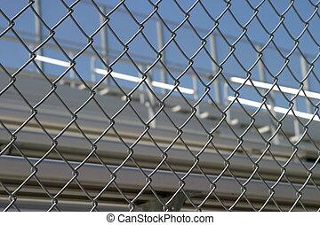 Bleachers Behind Fence