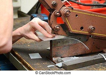 Hebelschere - Blech schneiden mit Hebelschere