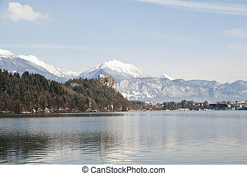 Bled Castle above the Lake, Slovenia