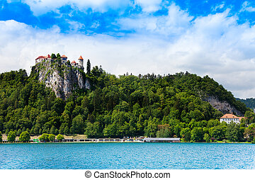 Bled cliff castle panorama