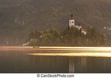 Bled island church
