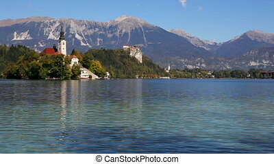 Bled, Slovenia - Lake Bled in Slovenia with the Assumption...
