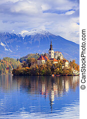 Bled with lake, Slovenia, Europe