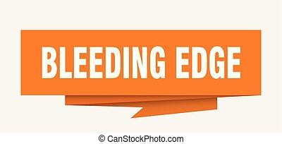 bleeding edge sign. bleeding edge paper origami speech...