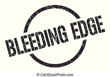 bleeding edge stamp - bleeding edge black round stamp