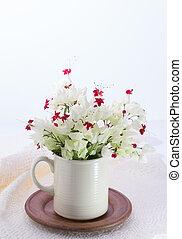 Bleeding-heart flower in vase
