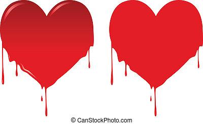 Bleeding Heart - Vector illustration of heart