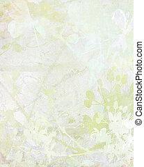 bleek, bloem, kunst, op, papier, achtergrond