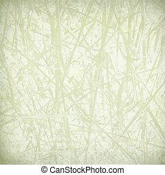 bleek, stro, afdrukken, op, papier