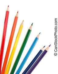 bleistifte, bundstift, färbung, bündel