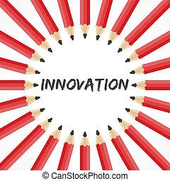 bleistifte, wort, innovation