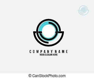 blend of imperfect circles logo on white background in vector illustration