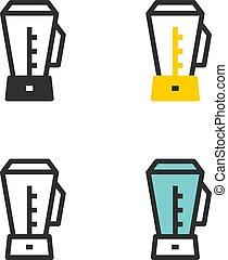 Blender, food processing - Vector