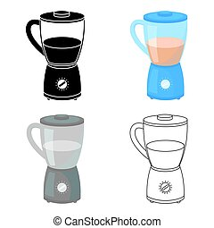 Blender icon in cartoon style isolated on white background.