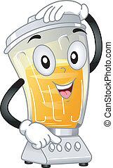 Blender Mascot - Mascot Illustration Featuring a Blender