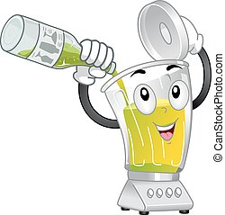 Blender Mascot Mocktail Lime Juice Illustration