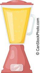 blender., style., vetorial, ilustração, caricatura, cozinha