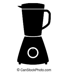 Blender the black color icon .