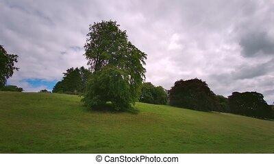 Blenheim Palace Gardens and it's landscaped parkland, Woodstock, Oxfordshire, England, UK